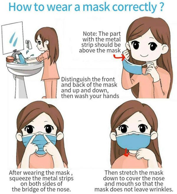 disposable mouth face mask 100