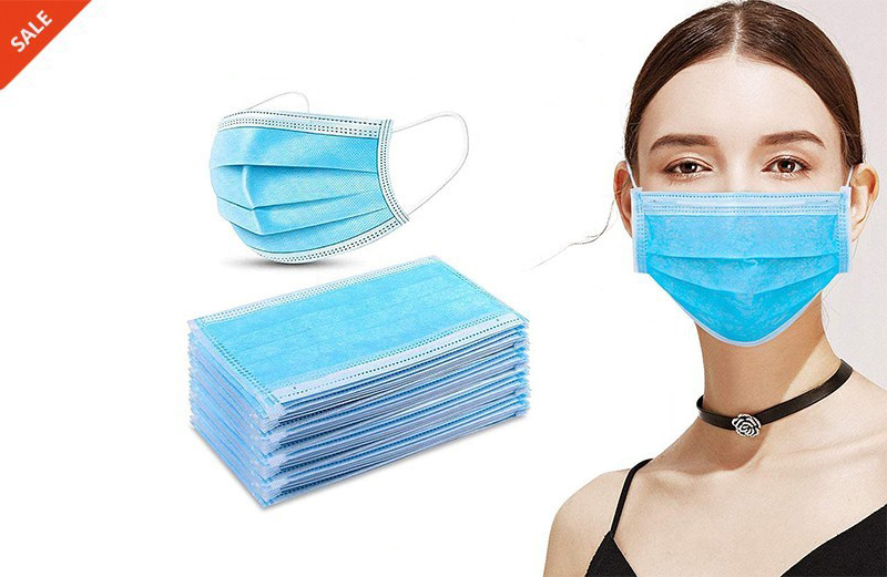 300 PCS Disposable Ordinary Medical Face Masks, Qualify for CE & FDA & YY/T 0969-2013